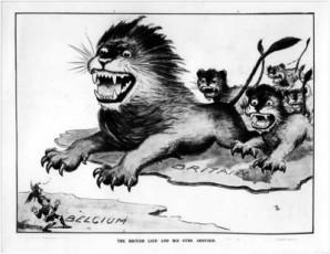 The British lion and cubs